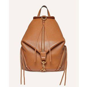 NWT Rebecca Minkoff Julian Large Leather Backpack Caramello Brown AUTHENTIC